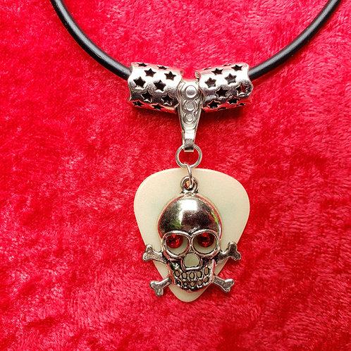 "Skull ""Glow"" Guitar Pick Necklace"