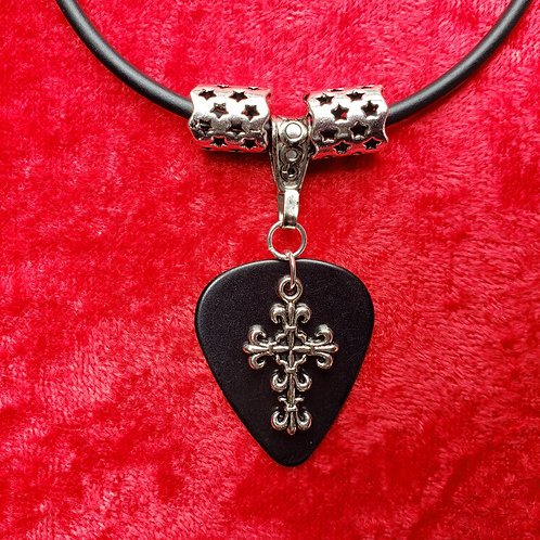 Small Cross - Guitar Pick Necklace