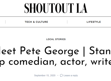"Pete George in ""SHOUTOUT LA"""