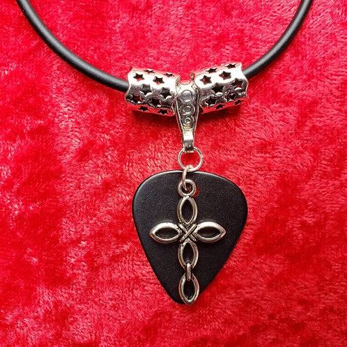 Large Cross - Guitar Pick Necklace