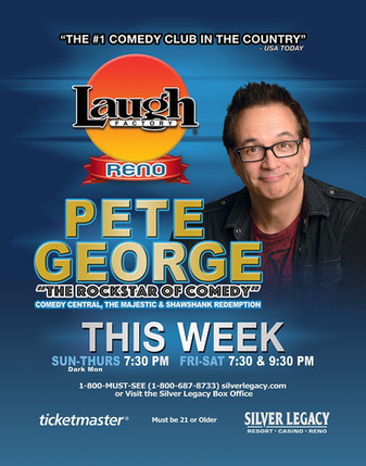 Stand Up Comedian-Pete George-Laugh Factory Comedy Club-Reno-Headliner