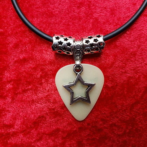 "Rock Star ""Glow"" Guitar Pick Necklace"
