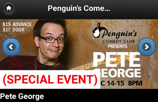 Stand Up Comedian-Pete George-Penguins Comedy Club-Cedar Rapids-Headliner-Special Event