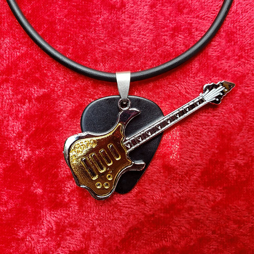 Metal Guitar - Guitar Pick Necklace