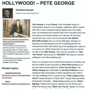 Examiner.com Pete George The Rock Star of Comedy page 1.jpg