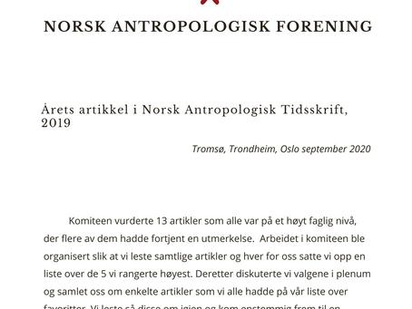 Rune Flikke og Maria Nathalie Oberti Tyldum kåret til årets artikkel i NAT 2019