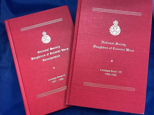 NSDCW Lineage Books Volume VI & VII LC 96-76711