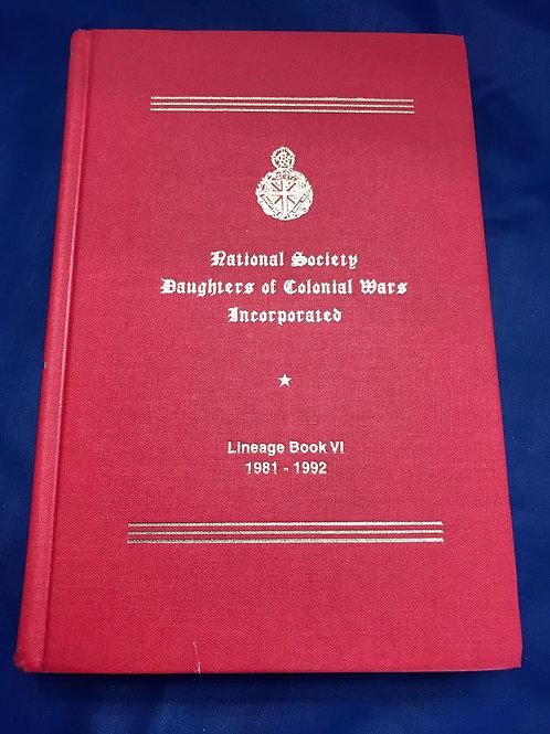 NSDCW Lineage Book  Volume  VI