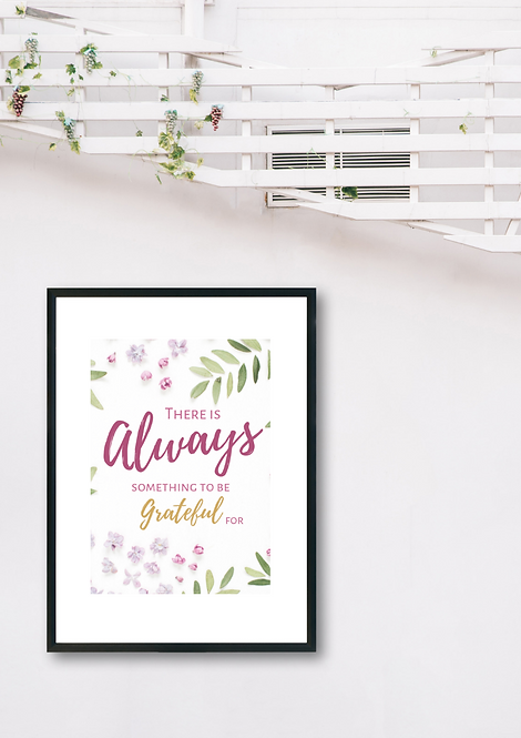 Always Grateful Print