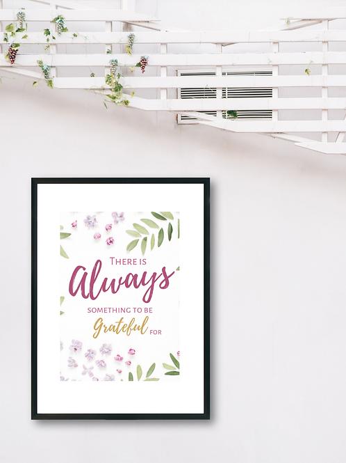 Always Grateful Print