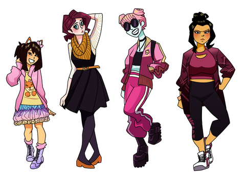 Shiori, Rosie, Olga, and Aimee
