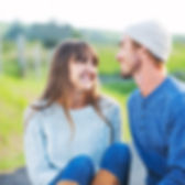 זוג מחייך לאחר טיפול בבישול אצל ליעוז מול