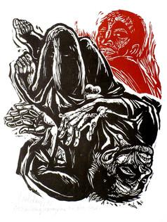 Kain und Abel 1973 76 x 53 cm