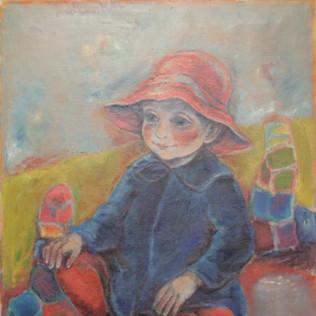 Portrait Johannes 1964 Öl auf Leinwand