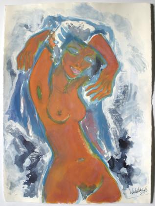 Frauenbildnis 1989 78 x 57 cm