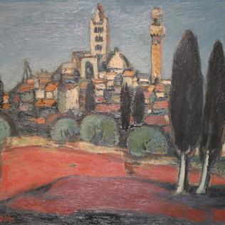 Siena 1952 Öl auf Leinwand