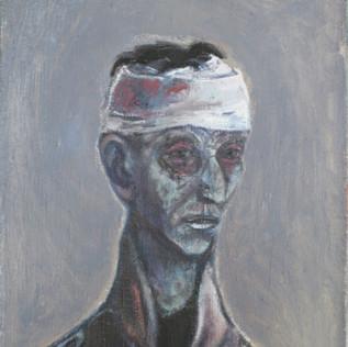 Kopf eines Soldaten 1957 Öl auf Leinwand