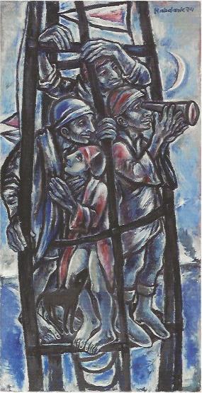 In Erwartung, 1974, Gemälde