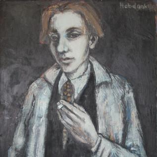 Selbstportrait 1952 Öl auf Leinwand