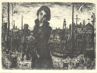 Mädchen am Ufer 1951 43 x 61,5 cm
