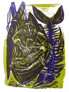 Alter Fischer 1974 76 x 53 cm
