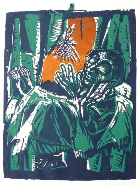 Schläfer zu Psalm 4 1972 76 x 53 cm
