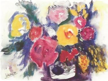 Blumen in der schwedischen Vase, 1984