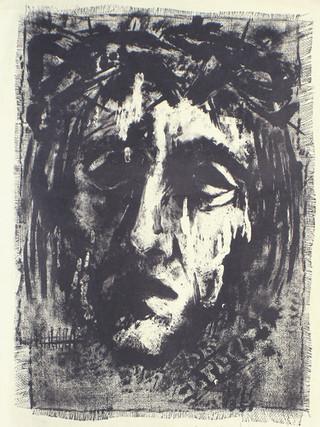 Schweißtuch der Veronika 1951 60 x 42,5 cm