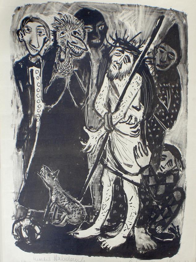 Die Verspottung Christi 1950 61 x 43 cm
