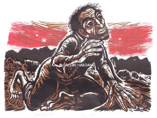 Der Prophet 1980 53 x 76 cm