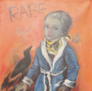 Portrait Rabe 1972 Acryl auf Leinwand