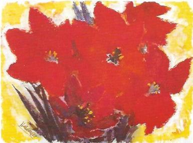 Festblumen, Aquarell 1989