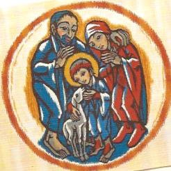 Die heilige Familie, Gobelin-Antependium, 1991