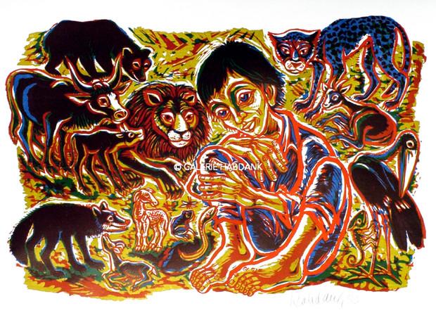 In terra pax 1983 53 x 76 cm