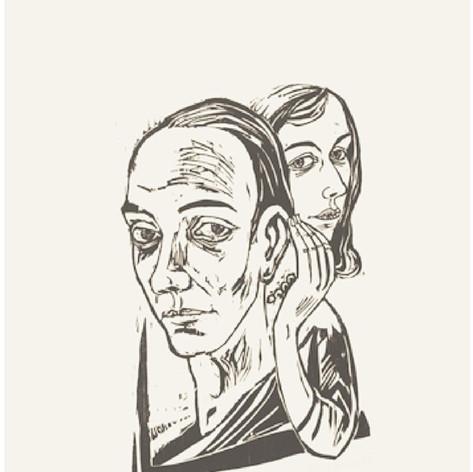 Doppelbildnis Walter Habdank und  Friedgard Hofmann 1957