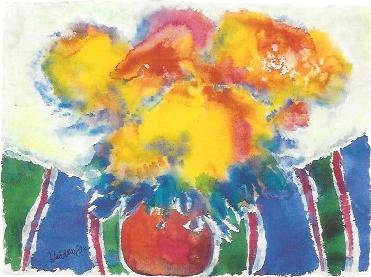 Blumen auf der Streifendecke, 1983