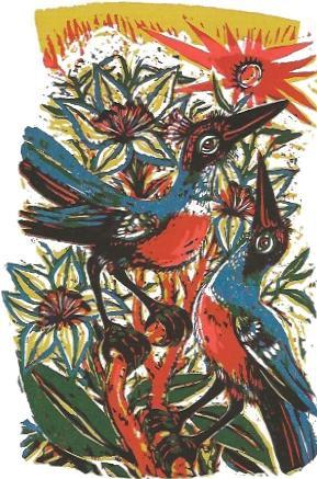 Vögel und Blumen, 1983