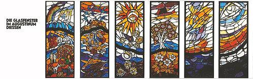 Leporello: Glasfenster der sechs Schöpfungstage