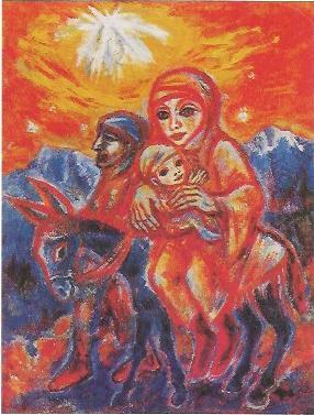 Die heilige Familie im Gebirge, 1981