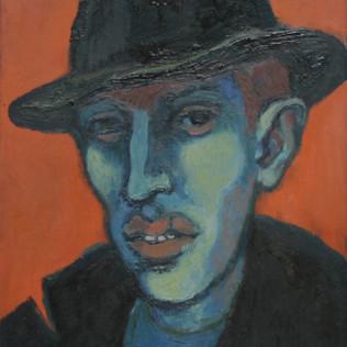 Portrait Eduard 1952 Öl auf Leinwand
