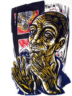 Morgen des Gefangenen 1984 76 x 53 cm