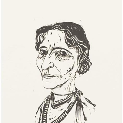 Portrait Frau Borcherdt 1956