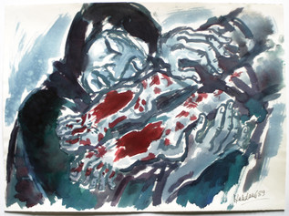 Beweinung 1989 57 x 78 cm