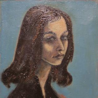 Portrait Friedgard Habdank 1960 Öl auf Leinwand
