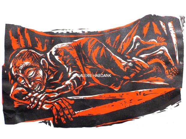 Jona schlafend 1972 53 x 76 cm