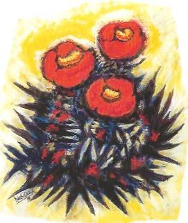 Blühende Krone