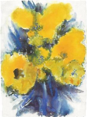 Gelbe Frühlinsblüten, 1991