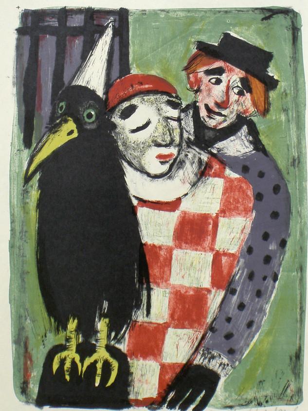 Der scvhwarze Vogel 1950 61 x 43,5 cm