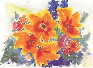 Blumen orange, 1984