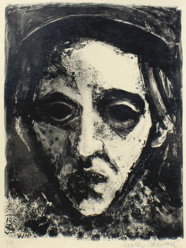Selbstbildnis 1951 61,5 x 43 cm
